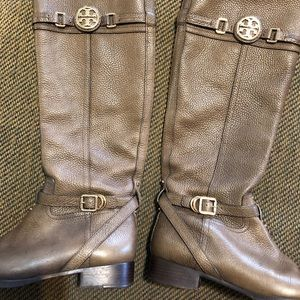 Tory Burch tan leather boots